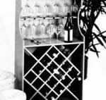 16 bottle wine rack plans with storage for glasses