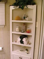 bathroom corner shelf plans