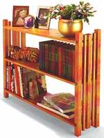 three shelf rustic bookcase plans