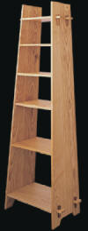 six shelf trapezoid bookcase plan