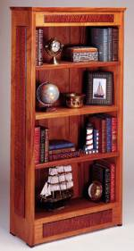 upscale four shelf bookcase plans