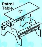 Homemade interlocking camp table