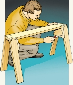 classic sawhorse plans