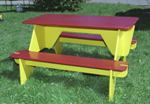 Homemade collapsible picnic table