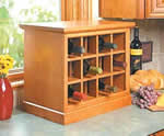 countertop wine rack plans