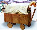 covered wagon toy box plans