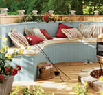 outdoor curved bench plans