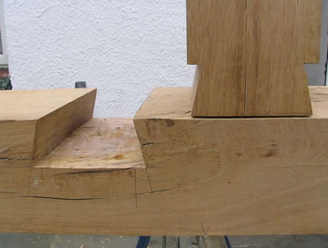 dovetail joint in post and beam construction