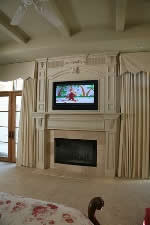 mantel plans flat panel TV