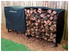 build your own firewood storage rack