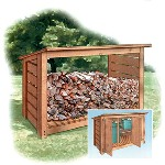 trash can enclosure plans - shed