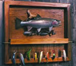 make fishing lure rack