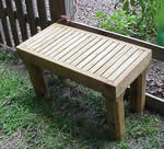 very simple garden bench plans