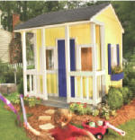 simple playhouse plans - with porch and railings