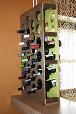 handcrafted wine rack plans