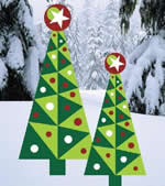 Christmas yard art plans - holiday trees