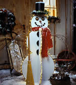 Christmas yard art plans - lit snowman