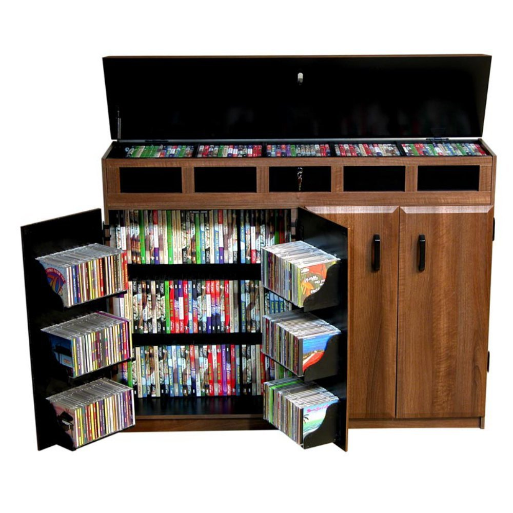 Selection of manufactured DVD and/or CD cabinet .