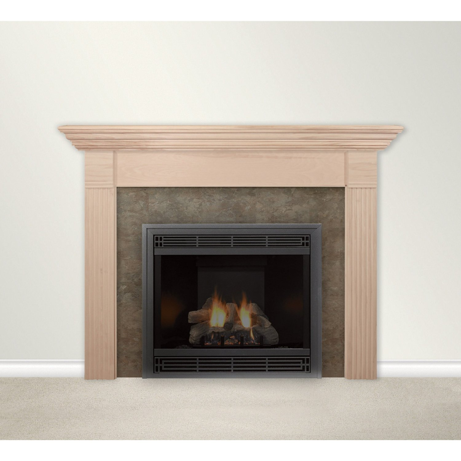 manufactured fireplace mantel
