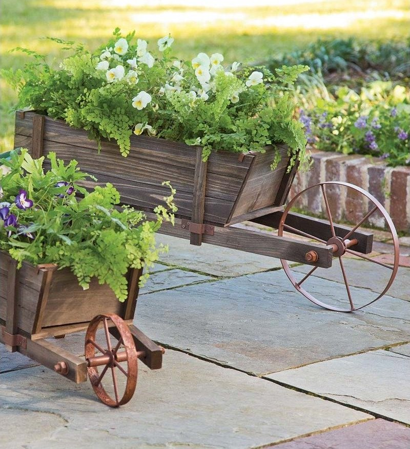 manufactured wheelbarrow planter
