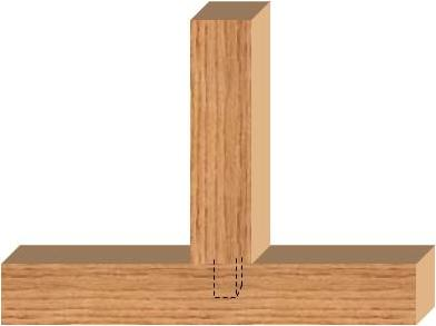 blind mortise & tenon joint
