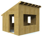 outdoor hideaway playhouse plans
