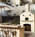 outdoor kitchen design - wood burning oven