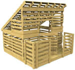 pallet style playhouse plans