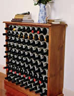 wine rack made with PVC pipe