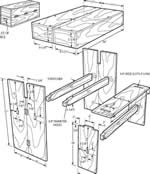 portable bench or table plans