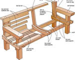 redwood bench plans