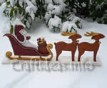 Christmas yard art plans - Santa sleigh and reindeer
