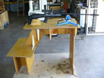 wooden shooting bench picture