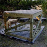 wooden shooting bench plans