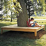 square tree benches plans