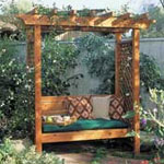 simple arbor plans with bench