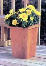 tapered wood planter