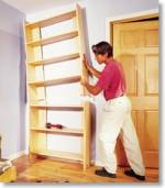 large two part bookcase plan