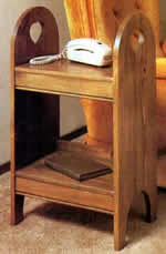 two shelf side table plans