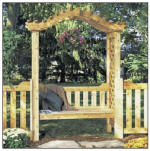 medium complex arbor plans with bench