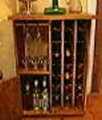 wine rack plans - includes glass cabinet