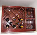 combination wine rack plans and glass rack