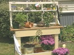 old wood gate potting bench plans